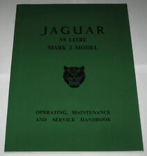 Operating Instructions Handbuch Jaguar Mark 2/ Mk II 3.8 Litre, Stand 1965
