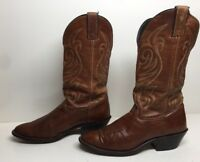 VTG WOMENS LAREDO COWBOY LEATHER BROWN BOOTS SIZE 7.5 M