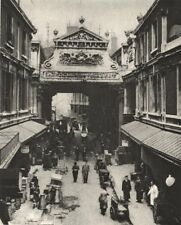 LEADENHALL MARKET. Gracechurch Street entrance. City poultry 1926 old print