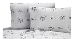 Bone Collector Black 2 King Pillowcases Michael Waddell Deer Antler Logo Gray