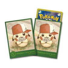 Pokemon Center Card Sleeves Japanese Pikachu Deck Shield Ash's Hat 64pcs
