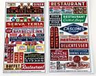 BLAIR LINE HO SCALE RESTAURANT & CAFE SIGNS   BN   136