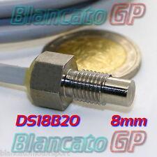 SONDA DI TEMPERATURA IMPERMEABILE FILETTATA M8 SENSORE DS18B20 LUNGHEZZA 1m DC