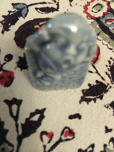 """Wade England Little Blue Humpty Dumpty Ornament! Whimsies 2"""" Fast, Free Postage!"""