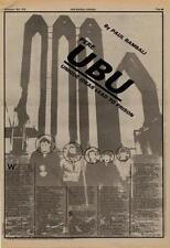 Pere Ubu UK Interview 1978