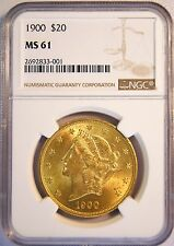 1900 $20 US Liberty Head Double Eagle Gold Coin (NGC MS 61 MS61) Free Ship  4289
