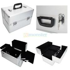 Travel Aluminum Pro Handle Beauty Makeup Organizer Cosmetic Case with Lockable
