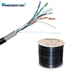 1000ft CAT6 UV Shielded FTP Waterproof Outdoor Direct Burial Network LAN Cable
