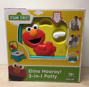 Sesame Street Elmo Hooray! 3 In 1 Potty Learning Potty Training 18+ Months NIB