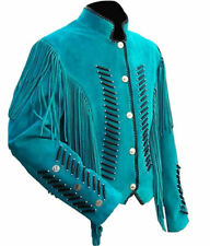 Classyak Western Leather Jacket with Fringes, High Quality Suede,  Unisex