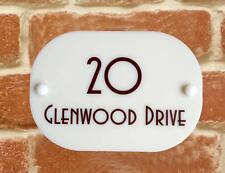 HOUSE SIGN PLAQUE personalised address house door number street name acrylic