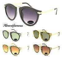 80s Retro fashion remade sunglasses vintage round metal arrow 4 colors uv400 uk