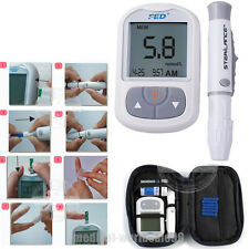 USA Blood Glucose Glucometer Blood Sugar Monitor Diabetes+Test strips,lancets