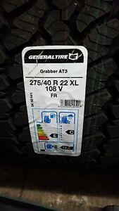 4 X 275 40 22 GENERAL GRABBER AT3 M+S TYRES