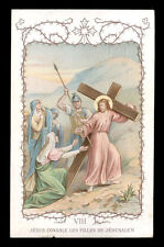 santino-holy card AIGUEBELLE-VIII STAZ. GESU' CONSOLA LE FIGLIE DI GERUSALEMME