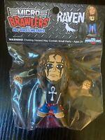 Raven - Pro Wrestling Crate - Micro Brawlers - ECW WWE TNA WCW - Rare Figure