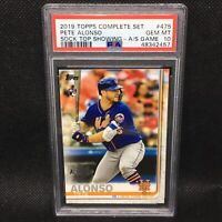 PSA 10! 🚨2019 Topps Complete Set Pete Alonso RC All-Star Game Stamp #475
