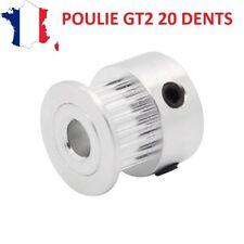 Poulie GT2 20 dents pour axe 5mm idéal moteur nema 17 - Impression 3D, CNC...