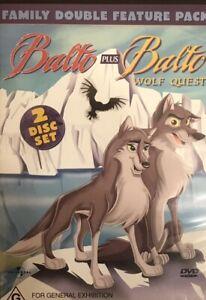 Balto + Balto Wolf Quest : 2 Disc : New Old Aus Stock : NEW DVD