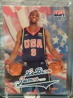 LEBRON JAMES 2004 FLEER TEAM USA ROOKIE CARD ROOKIE CARD ROOKIE CARD ROOKIE CARD