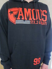 FAMOUS Stars & Straps Think Fast Mens Black Pullover Hoodie Shirt LARGE NWT