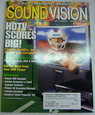 Stereo Review Sound & Vision Magazine HDTV Scores Big! January 2002 071712R1