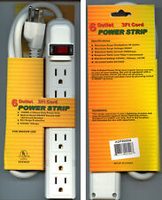 6 Outlet Surge Protector Power Strip for use with PC/HDTV/TV/Wii