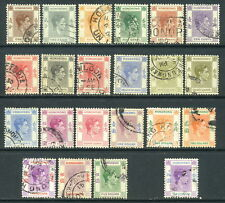1938-1948 Hong Kong SC 154-165A//166A Used, King George VI KGVI KG6*