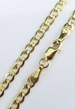Mens Hollow 10K Yellow Gold 3 MM Cuban Curb Link Chain Necklace 20 Inches Unisex