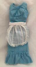 Vintage Barbie Doll Blue Dress White Apron BEST BUY #7749