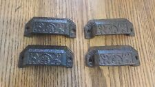 Set of 20 Replica Ornate  Index File   Handle Pull Cast Iron  Hardware Rustic