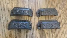 Set of 8 Replica Ornate  Index File   Handle Pull Cast Iron  Hardware Rustic