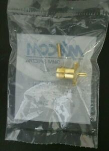 TNC Panel Mount Jack 15 GHz MIL-SPEC Gold Plated USA TE/AMP MA-COM 3106-7941-00