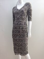 Blue Illusion sz XS Black & Beige Floral Stretch Lace Tiered Dress