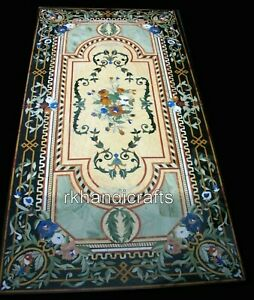 30 x 60 Inches Vintage Art and Crafts Dining Table Top Marble Conference Table
