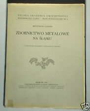 RARE 1938 BOOK Decorative Metalwork in Silesia Poland silver jewelry folk art