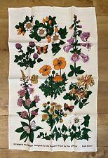 More details for pat albeck summer flowers irish linen tea towel designed for the national trust