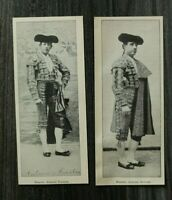 2x Blatt um 1900 Matador Antonio Reverte + Fuentes Stierkampf Spanien Kleidung +