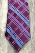 NWOT Jones New York Purple Blue Striped Luxury Silk Tie Necktie