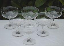 Baccarat - Service de 6 coupes à champagne en cristal à côtes vénitiennes