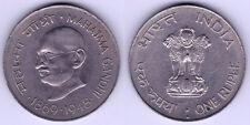 LOTE  2 MONEDAS  INDIA  1 RUPIAS    AÑO  1869 -1948  Y  50 PAISE  1869-1948