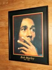 """Bob Marley Print - 20"""" 16"""" Enmarcado De Bob Marley Arte De Pared, Bob Marley Arte De Pared"""