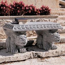 New listing Medieval Gothic Castle Gargoyle Table Garden Bench replica reproduction
