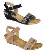 Womens Wedge Sandals Jo & Joe Ladies Strapped Buckle Wedge Sandals - RRP £39.99