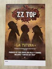Zz Top La Futura 2012 Promo Poster