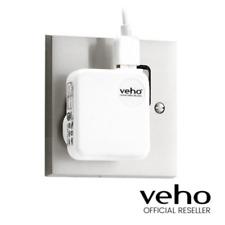 VEHO UK MAINS USB CHARGER PLUG CONVERTER - WHITE - VAA-003