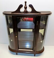 Small Wood/Glass Curio Display Cabinet Shelf For Miniatures Wall 20x20