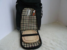2 Bottle Wine Cooler Bag / Tote + Cutting Board, Cheese Knife, Corkscrew - New