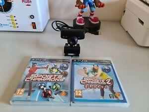 Sports Champions 1 & 2 With Playstation 3 Eye Camera PS Move Camera PS3
