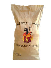 Sacco 15kg Carbonella di Legna Professionale per Barbecue Grigliate Alta Qualità